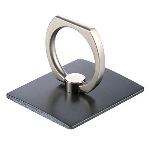 Finger Grip Rotating Ring for Mobile Phones and Tablets Holder - Black