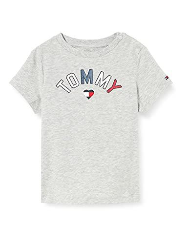 Tommy Hilfiger Baby Tommy Tee S/S T-Shirt, Grey Heather, 86 Unisex-Bimbi