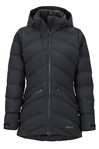 Marmot Wm's Val D'sere Jacket Chaqueta De Plumas para La Nieve, 700 Pulgadas Cúbicas, Ropa De Esquí Y Snowboard, Resistente Al Viento, Resistente Al Agua, Transpirable, Mujer, Black, XL