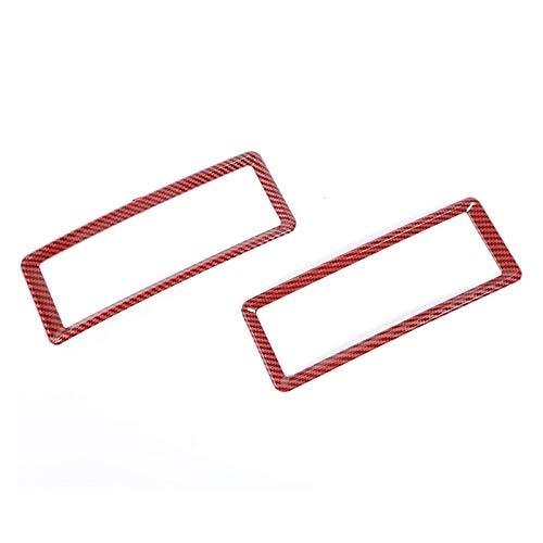 SHENG Aire Acondicionado de automóvil Accesorios de Ajuste de ventilación ABS Accesorios Interiores Ajuste para Dodge RAM 2010-2017 Outlet de Aire Marco Decorativo Rojo