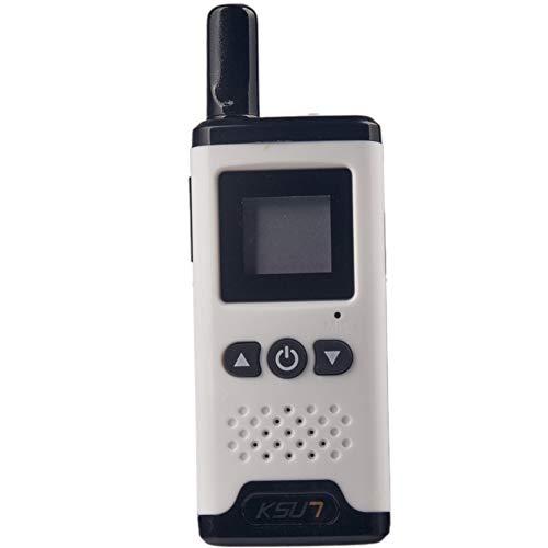 QZQIMIN Mini Miniature Walkie-Talkie Civil Hair Salon 4S Shop Beauty Salon Hotel Small PTT Launch Button Diversified Wireless Intercom LED Display Two Way Radio QMV66-V2-W