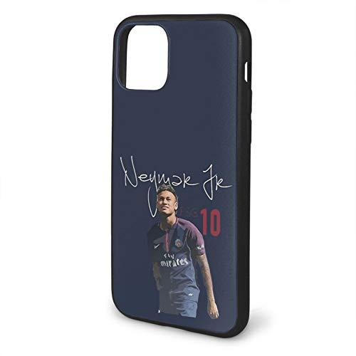 Neymar Jr PSG Compatible con iPhone 12/12 Pro MAX 12 Mini 11 Pro MAX SE 2020 X/XS MAX XR 8/7 6/6s Plus Fundas de teléfono de protección Negra