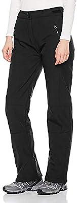 Outdoor Ventures Women's Sleek Waterproof Softshell Fleece Lined Ski Snow Insulated High Rise Hiking Pants with Bottom Zipper