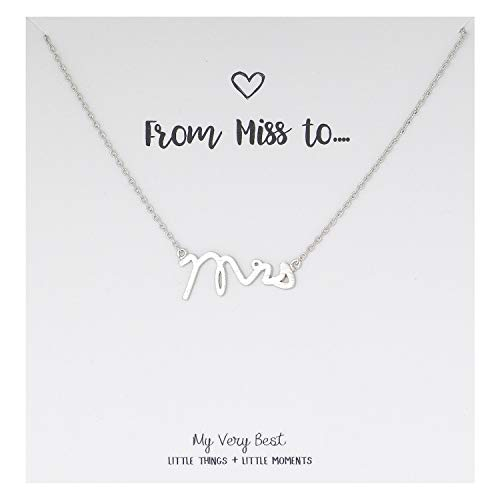 My Very Best Mrs Necklace (Silver Plated Brass)