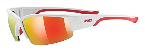 uvex Unisex– Erwachsene, sportstyle 215 Sportbrille, white red/red, one size