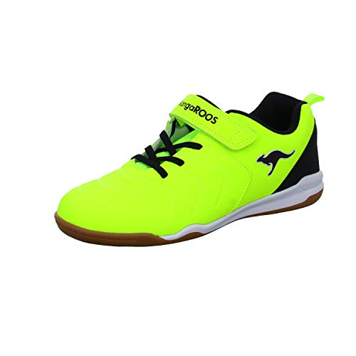 KangaROOS Unisex-Kinder Speed Comb EV Sneaker, Neon Yellow/Jet Black 7013, 37 EU