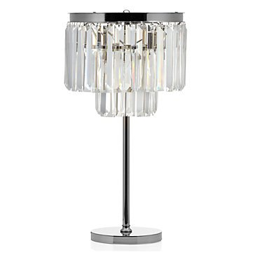 Luxe Crystal Table Accent Lamp Crys…