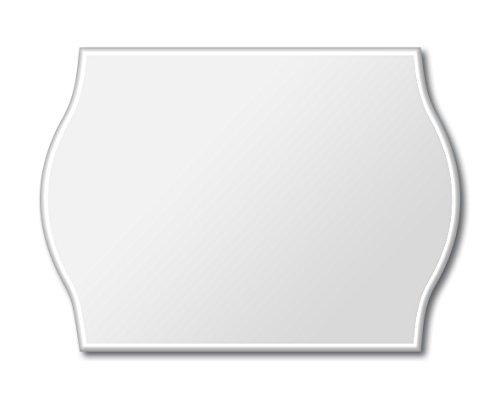 Meto Etiquetas para etiquetadoras manuales 9506166 (26 x 16 mm, 2 líneas, 6000 unidades, removibles, para Meto, Contact, Sato, Avery, Tovel, Samark, etc.) 6 rollos, blanco