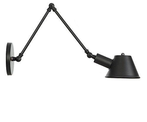 E27 Industrial Retro personnalité réglable angle long bras fer noir mur lampe salon bar Cafe Restaurant Hôtel Vintage mur lumière intérieur Decor,Light Arm/20+20cm