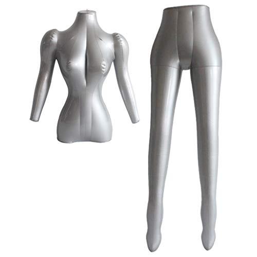 Milageto PVC Aufblasbare Weibliche Schaufensterpuppe Form Hosen Kleidung Display Dummy Modelle