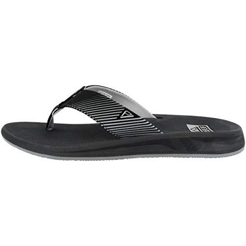 Reef Mens Phantom Ii Fashion casual Flip-Flop, Black, 13 UK