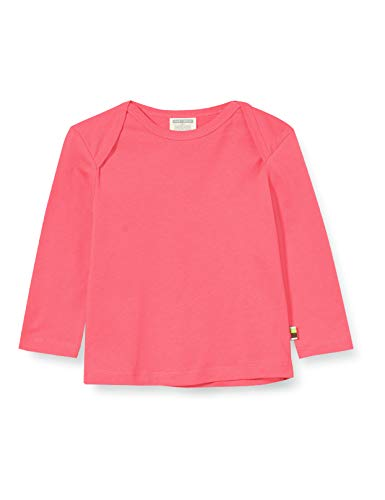 loud + proud Mädchen Shirt Single Jersey Organic Cotton Langarmshirt, Rosa (Azalea Aza), (Herstellergröße: 98/104)