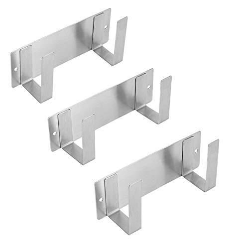 Xingsiyue Topfdeckelhalter mit Selbstklebendem - 304 Edelstahl Wandmontierter Halterung für Topfdeckel,Handliches Küchenzubehör(3 Stück )