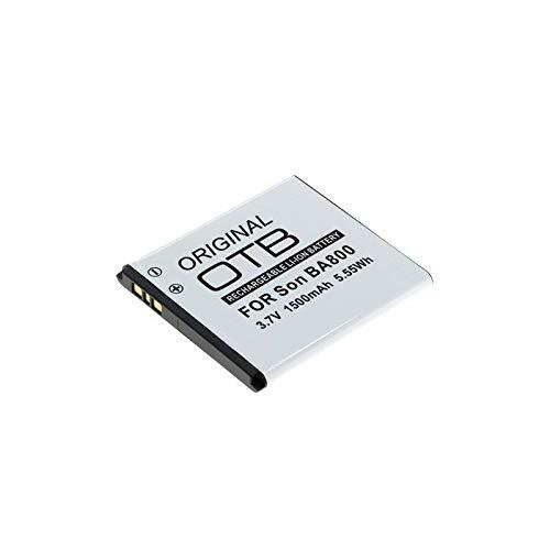 subtel® Batería premium para Sony Xperia S (LT25i) / Xperia V (LT26i) (1500mAh) BA800 bateria de repuesto, Smartphone pila reemplazo, sustitución