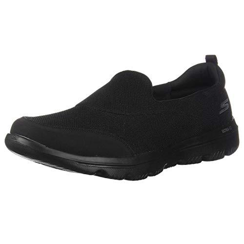 Skechers Damen Go Walk Evolution Ultra-reach Slip On Sneaker, Schwarz (Black Textile/Trim Bbk), 38.5 EU