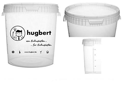 HUGBERT Aktion Set 1, 15/17 L, Gärbehälter mit Skala + Deckel ohne Bohrung