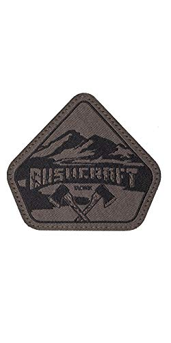 TACWRK Bushcraft Patch Gewebt Outdoor Survival Aufnäher Fun Morale Patch, Oliv