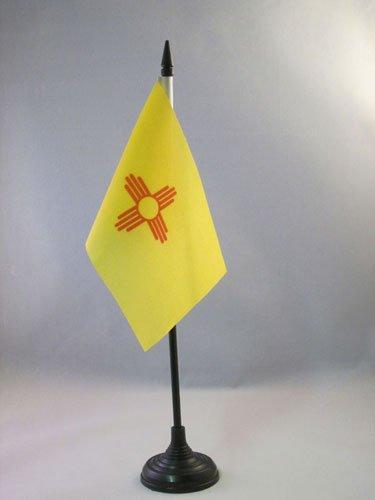 AZ FLAG Drapeau de Table Nouveau-Mexique 15x10cm - Petit Drapeaux DE Bureau Etat américain - USA - Etats-Unis 10 x 15 cm
