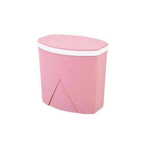 AjAC vuilnisbak, push-type kogel-slagafdekking volledige verzegeling anti-geur-afvalemmer, kunststof huis keuken slaapkamer woonkamer badkamer sanitaire ruimte Bucket
