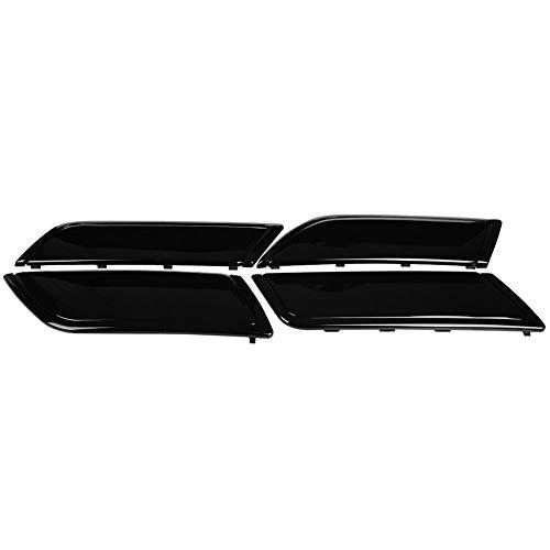 Duokon 4 pièces Couverture de Panneau de Porte Intérieur de voiture,Garniture de Panneau de Décoration de Porte pour 5 2017-2018 (Noir brillant)
