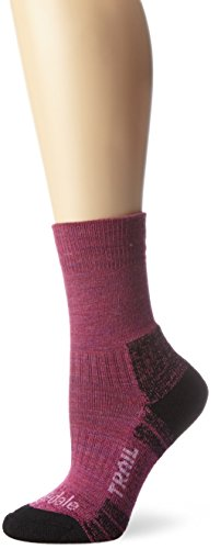 Bridgedale Women's WoolFusion Trail Socks, Berry, Small