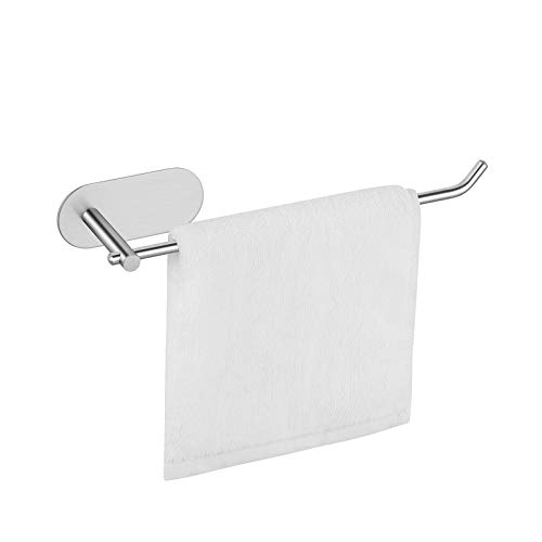 Amazon Brand – Umi Portasciugamani 23,5 cm, Anello Asciugamano Porta Rotolo Carta Igienica, Autoadesivo, SUS304 Inox Acciaio
