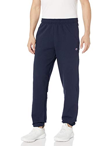 Champion Herren Powerblend Relaxed Bottom Fleece Pant Unterhose, Navy, Groß