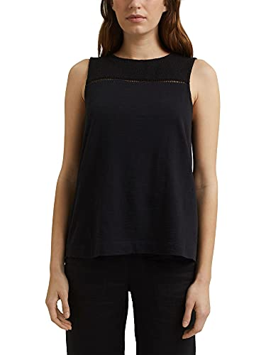 ESPRIT 041EE1K355 T-Shirt, Nero, Large Donna