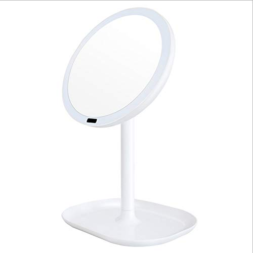 XINYU Cosmetic Mirror Cycle Charging Infrared Human Body Induction LED Dressing Room Princess Mirror, is The Best Companion for Beauty Lovers,White