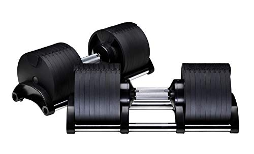 2x 32KG Adjustable Dumbbells Solid Steel Weight Set Affordable Dumbells Adjustable Weights Space Saver Dumbbells for Home 64KG (32KGx2)