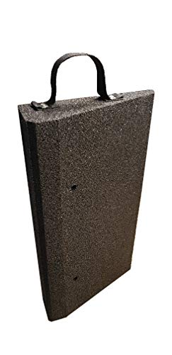 bepco Bordsteinkanten-Rampe-Set (2 Stück) 50-100 mm aus Gummifasern - Auffahrrampe - Türschwellenrampe mit eingelagerten Unterlegscheiben zur Befestigung und Transport-Schlaufe (50 x 25 x 10 cm)