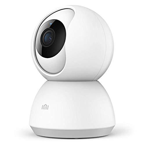 Xiaomi IMI Mi Home 1080P HD Smart Wireless IP Telecamera di Sicurezza per Sorveglianza Interna WiFi Pan/Inclinazione Audio Bidirezionale Visione Notturna Rilevazione Movimento Monitor Remoto (Bianco)