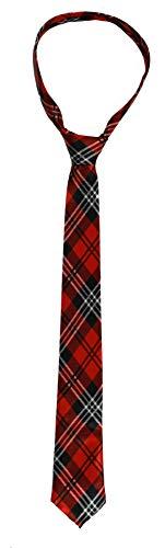 Corbata de tartn unisex  Disfraz escocs de noche  Paquete de 12 unidades