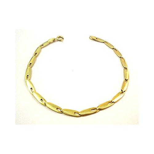BRACCIALE UNISEX IN ORO GIALLO 18 KT - Oro giallo 18 kt