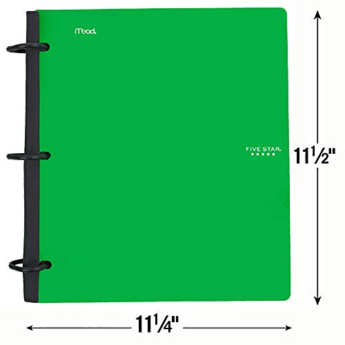 Five Star Flex Hybrid NoteBinder, 1-1/2 Inch Binder with Tabs, Notebook and 3 Ring Binder All-in-One, Green (72401) Photo #2