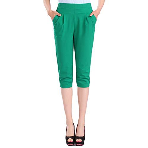 Pantalon décontracté taille haute pour femmes en coton, pantalon décontracté taille haute (L)