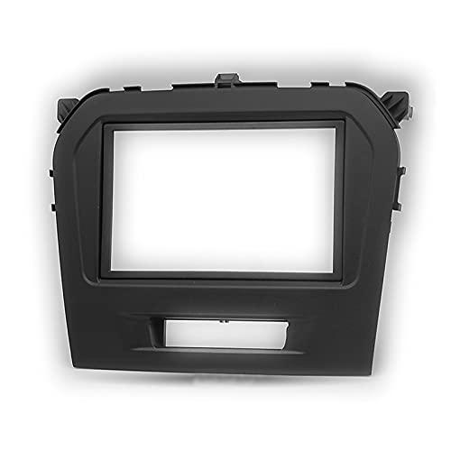 WANGYOU Ajuste para Suzuki Vitara 2015- Radio de Coche 9 Pulgadas de Pantalla Grande 2DIN Adaptador de Marco de Fascia DVD Kit de Marco de Panel de Montaje de Jugador Lasting (Color Name : Black)