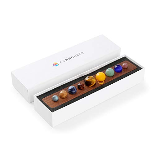 TongYue Nine Planets in Solar System Natural Gemstone Outer Space Planets Celestial Creative Gift Home Desk Decorations