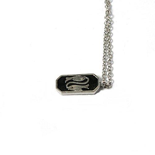 New WL Fashion Halskette in Silber mit schwarzem Epoxid - Sternzeichen Fische 030-00287