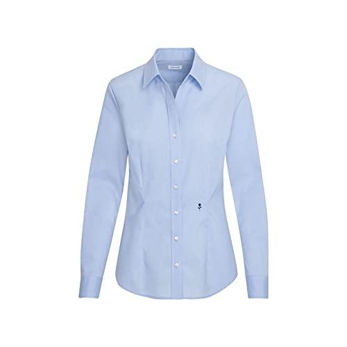 Seidensticker Damska bluzka - bez prasowania, wąska taliowana koszula - Slim Fit - bluzka koszulowa - kołnierz koszula-bluzka - długi rękaw - 100% bawełna
