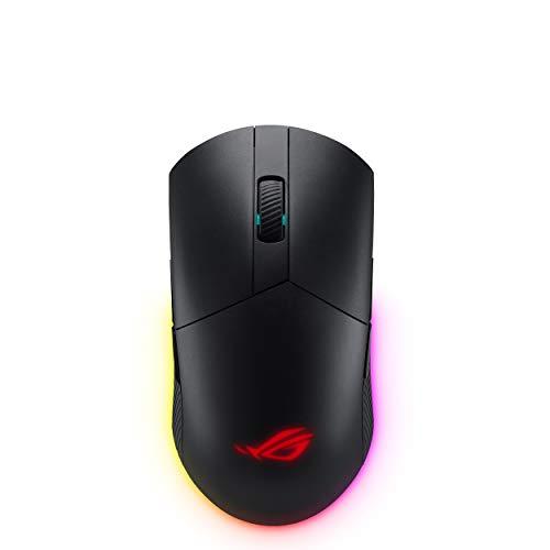 Mouse ótico para jogos ASUS - ROG Pugio II   Mouse ergonômico e verdadeiramente ambidestro para PC   Botões laterais configuráveis e intercambiáveis   Sensor óptico de 16.00 DPI   Aura Sync RGB tátil