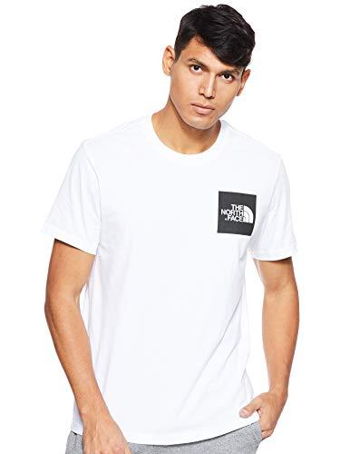 The North Face M S/S Fine Camiseta de Manga Corta, Hombre, Blanco (TNF White/TNF Black), XL
