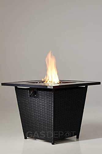 REALGLOW Glass Top Table Gas Fire Pit 13KW