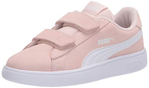 PUMA baby boys Puma Smash 2 Hook and Loop Sneaker, Rosewater-puma White, 9 Toddler US