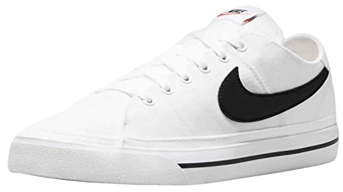 Nike Court Legacy Cnvs, Zapatillas de Gimnasio Hombre, White/Black, 41 EU