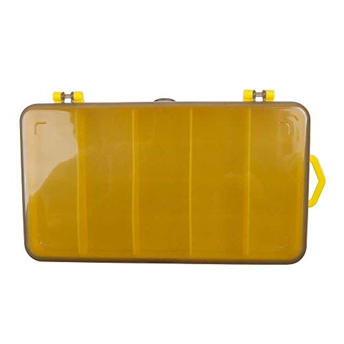 JTDD Double-sided Color Lure Box, Hard Bait Storage Box, Soft Bait Set Box Accessories, Double-layer Rock Fishing Tackle Box Gun Yellow