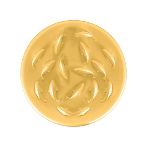 LWKBE Goldfish Design Slower Feeder per Gatto Piccolo Cane Cibo Ciotola Puzzle Full Piatto, Cibo Sano Dieta Ciotola per Animali Domestici, Anti Vomito antini,Beige