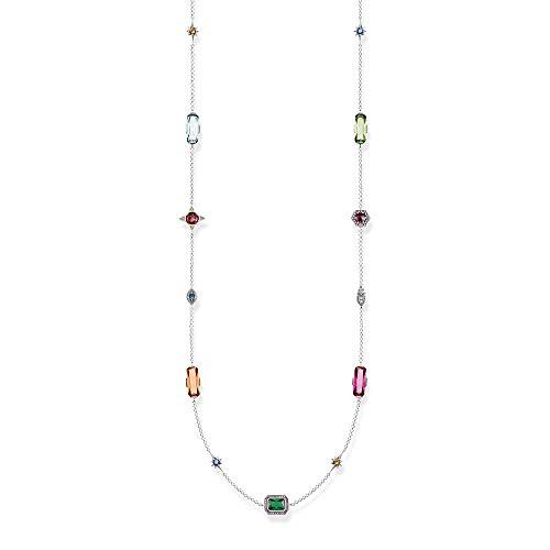 Thomas Sabo KE1891-318-7 - Collar para Mujer (Plata de Ley 925), diseño de Piedras