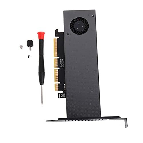 Adaptador M.2 NVMe, Unknows M.2 NVMe Adaptador a PCIE3.0 GEN3 M.3 Ventilador Turbo incorporado para tarjeta de expansión NVME GEN3 M.3 de tamaño 2230-22110