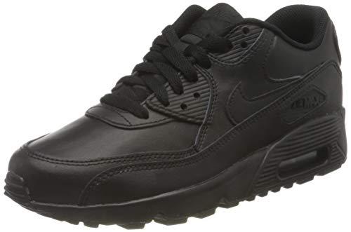 Nike Air MAX 90 LTR (GS), Zapatillas para Niños, Negro (Black/Black 001), 38.5 EU